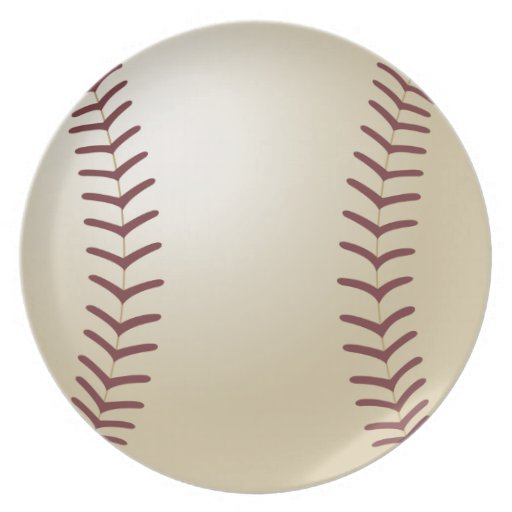 Customized Baseball Party Plates