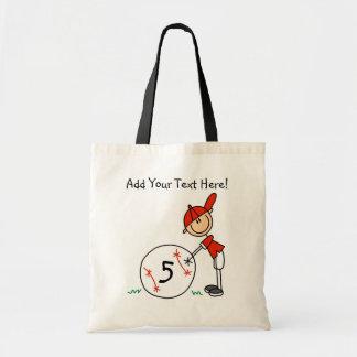 Customized Baseball Player Tote Bag