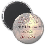 Customized Beach Wedding Save the Date Magnet