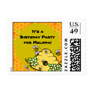 Customized Beehive and Bees Postage