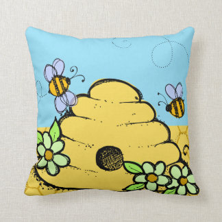 Customized Bees and Bee Hive Pillow