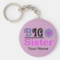 "Customized Big Sister Design 2.25"" Keychain"