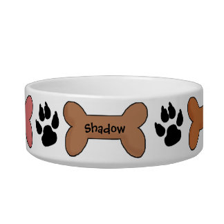 Customized Biscuits and Bones Dog Bowl