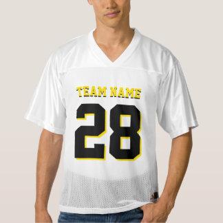 Customized Black and Yellow Football Sports Jersey