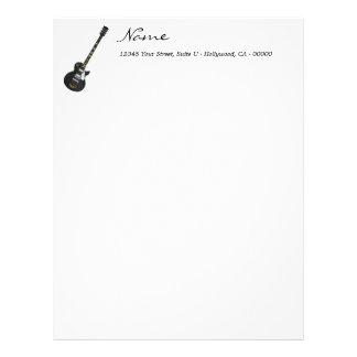 Customized Black Guitar Letterhead