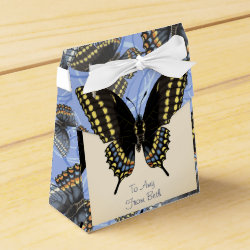 Customized Black Swallowtail Favor Box