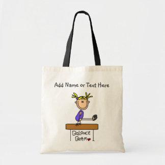Customized Blond Girl Balance Beam  Tote  Bag