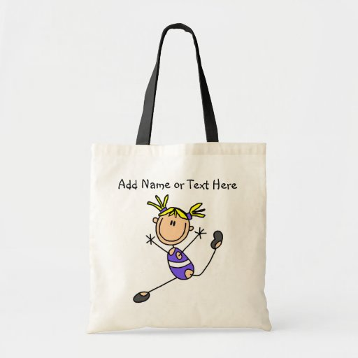Customized Blond Girl Gymnast  Tote  Bag