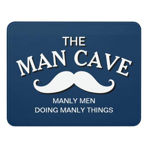 Man Cave Door Signs : Customized blue funny man cave sign door zazzle