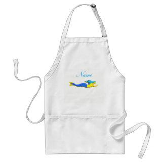 customized blue underwater mermaid adult apron