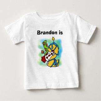 Customized Boy Clown 2nd Birthday T-shirt