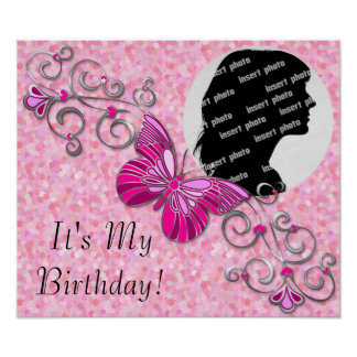 Customized Butterfly Birthday Poster