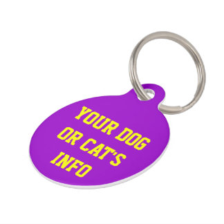 CUSTOMIZED BY YOU PET NAME TAG