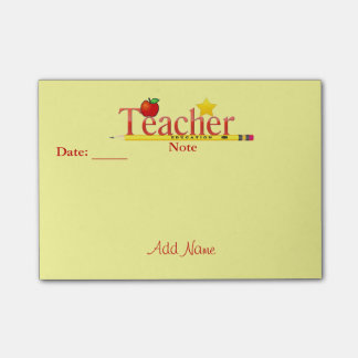 Customized By YOU Teacher Post-it® Notes