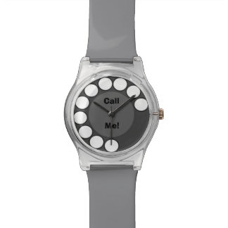 Customized Call Me Rotary Phone Dial Message Watch