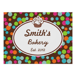 Customized Candy Sprinkles Bakery Sign Art  Print