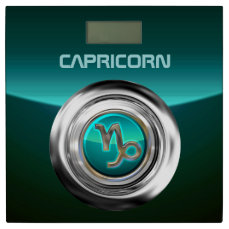 Customized Capricorn Zodiac Symbol Bathroom Scale