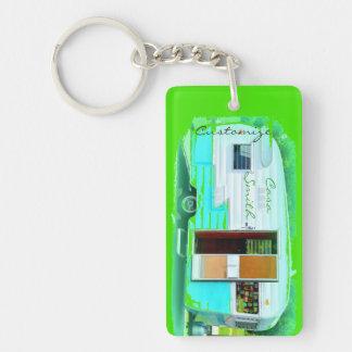 Customized caravan camper casa keychain