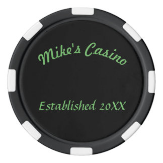Customized Casino Name and Year Established Poker Chips