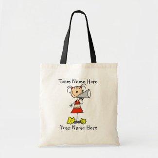 Customized Cheerleader With Megaphone  Tote Bag bag