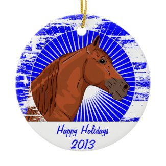 Customized Chestnut Tennessee Walking Horse Christmas Tree Ornaments