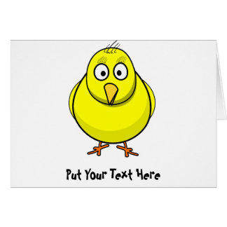 Customized Chick Card