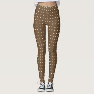 Customized Chocolate Chip Design All Over Leggings
