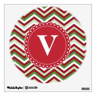 Customized Christmas Chevron Pattern Wall Decor