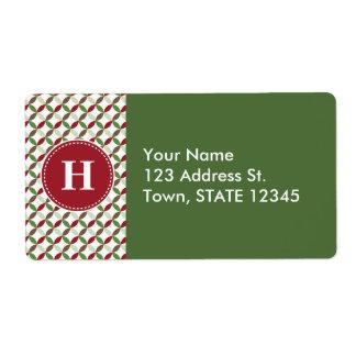 Customized Christmas Modern Pattern Label