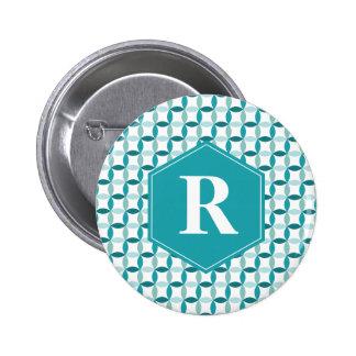 Customized Christmas Modern Pattern Pinback Button