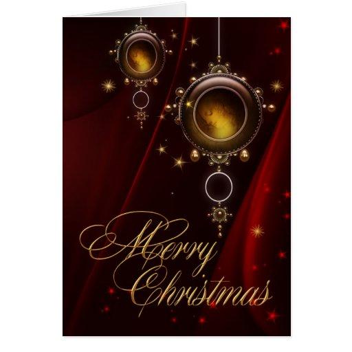 Customized Christmas Ornaments Card
