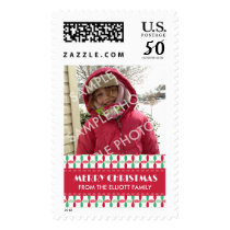 Customized Christmas Photo Pattern Postage