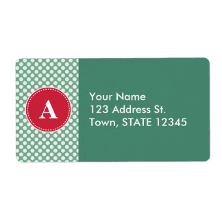 Customized Christmas Polka Dot Pattern Label