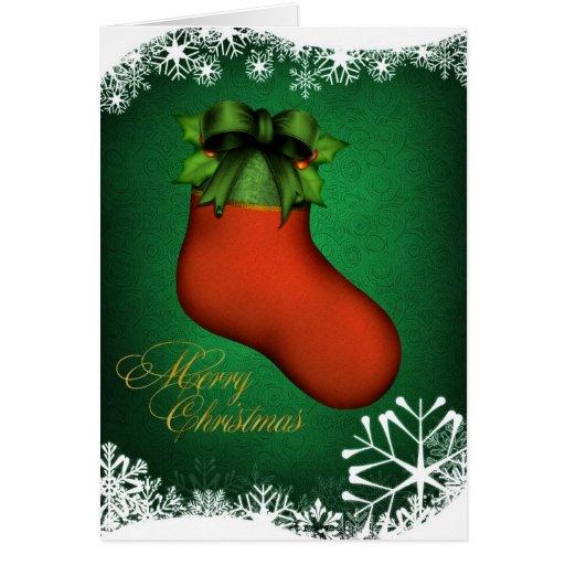 Customized Christmas Stocking Card