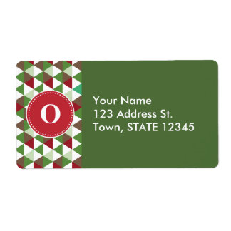 Customized Christmas Triangle Pattern Label