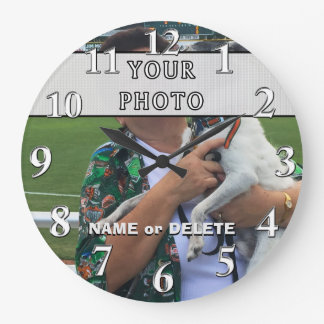 Customized Clock with Photo and Name or Delete