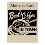 Customized Coffee Shop Post Cards