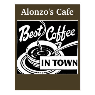Customized Coffee Store / Restaurant Postcard