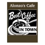 Customized Coffee Store / Restaurant Postcards