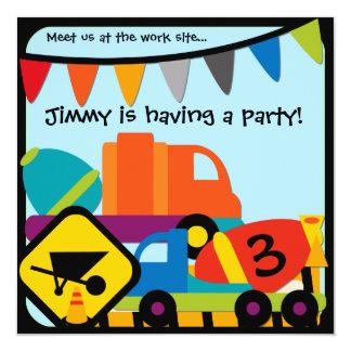 Customized Construction Birthday Invitation