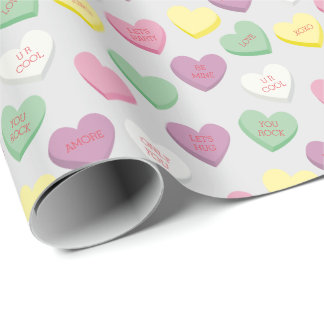 CUSTOMIZED Conversation Candy Hearts Gift Wrap