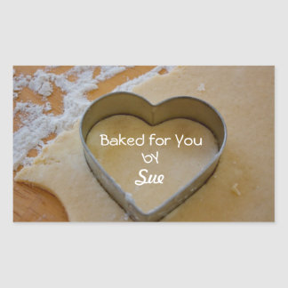 Customized Cookie Cutter Heart Treat Stickers