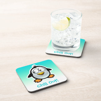 customized cool penguin cartoon drink coaster