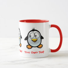 Customized Cool Penguin Cartoon Mug