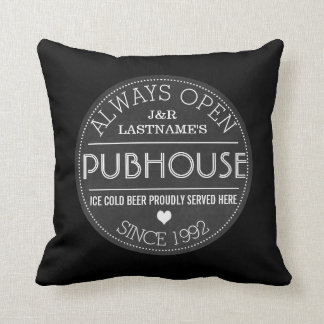 Customized Couple Pubhouse Beer Served Here Pillow