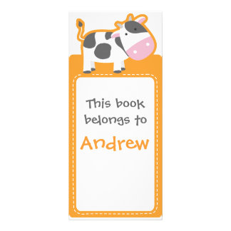 Customized*Cow Bookmarks Book Rack Card