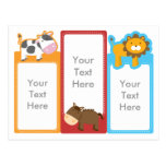 Customized*Cow Horse Lion 3-in-1 Bookmarks Postcards