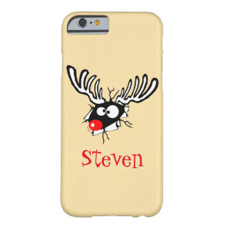 Customized Crazy Red Nosed Reindeer Barely There iPhone 6 Case