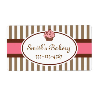 Customized Cupcake  Business Labels