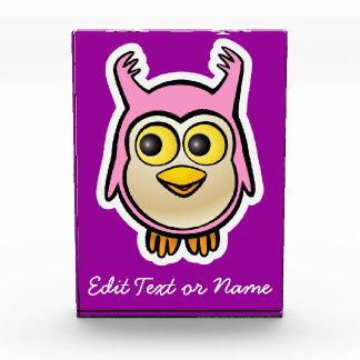 Customized Cute Baby Owl Cartoon Acrylic Award